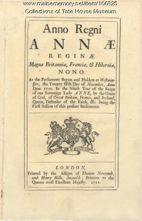 Act of Parliament, Portland, 1711