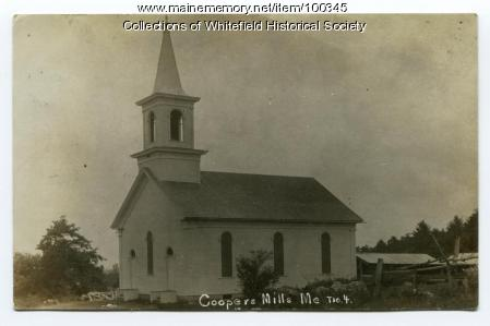 Coopers Mills Baptist Church, Whitefield, ca. 1908