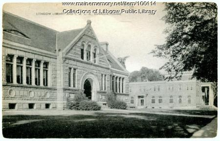 Lithgow Library and The Kennebec Valley YMCA, Augusta, ca. 1950