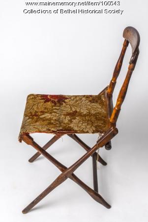 Civil War era folding camp chair, 1861