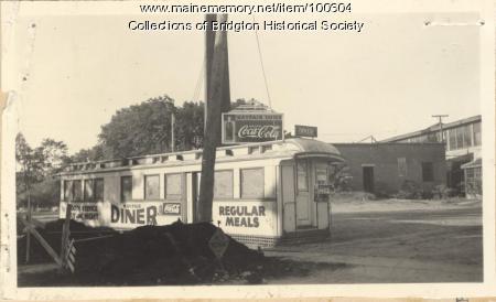 Mayfair Diner, Depot Street, Bridgton, ca. 1938