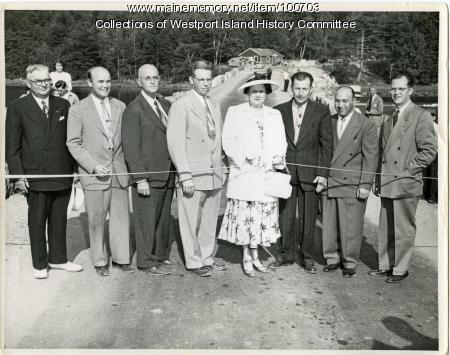 Causeway Dedication, Westport Island, 1950
