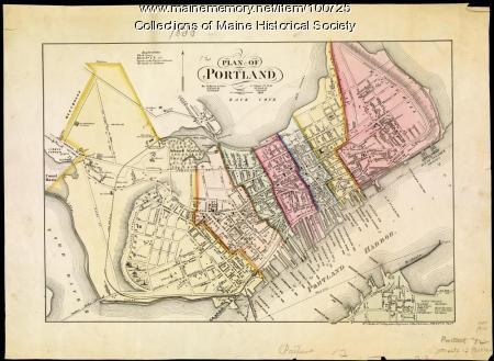 Plan of Portland, 1858