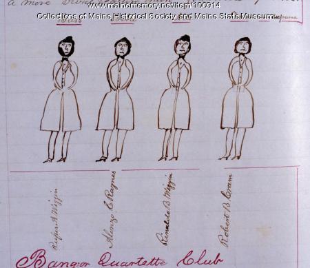 Bangor Quartette Club, 1849