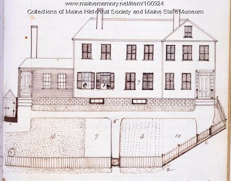 Harris House, Bangor, ca. 1850