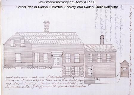 Atkins House, Jefferson Street, Bangor, 1851