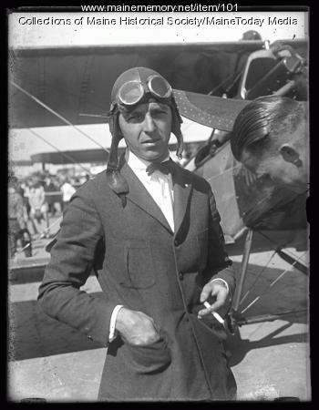 Biplane and pilot, ca. 1925