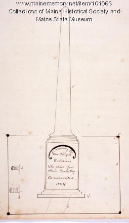 Soldiers' Monument, Bangor, 1864