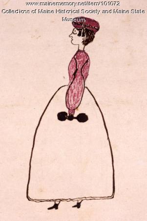 Ada Martin gymnastic costume, Bangor, 1864