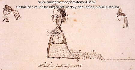 Fashion in Bangor, 1865