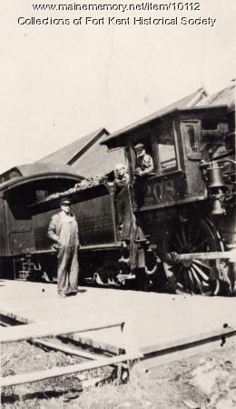 Bangor and Aroostook engine 208, Fort Kent, c.  1910