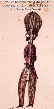 Soldier, Bangor, ca. 1860
