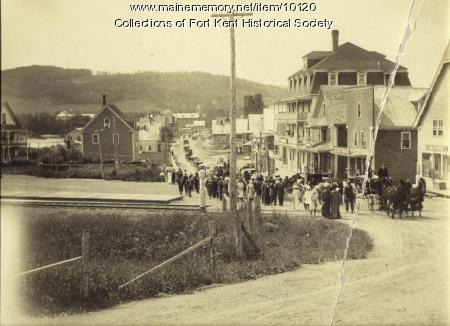 Funeral procession, Fort Kent, 1912