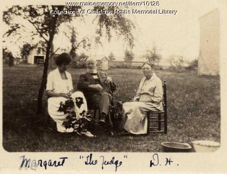 John and Dora Hobbs with Margaret, ca. 1900