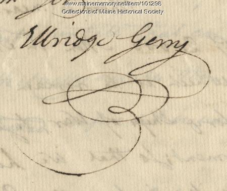 Elbridge Gerry signature, May 28, 1776