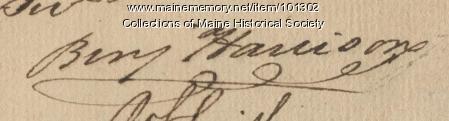 Benjamin Harrson signature, Jun. 12, 1776