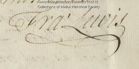 Francis Lewis signature, Mar. 30, 1778
