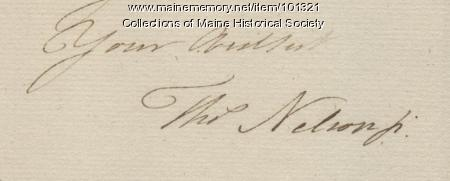 Thomas Nelson, Jr. signature, Sep. 16, 1781