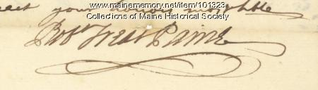 Robert Treat Paine signature, Mar. 16, 1776