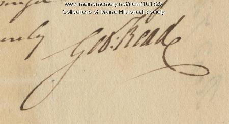 George Read signature, May 17, 1776