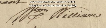 William Williams signature, Jul. 24, 1776