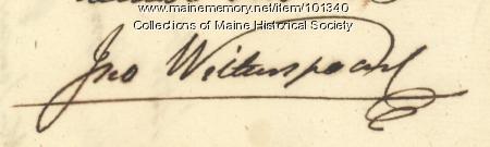 John Witherspoon signature, Jul. 3, 1776