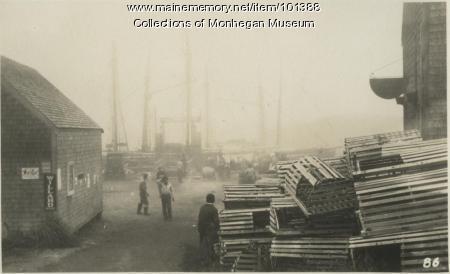 Waiting out the fog, Monhegan, ca. 1932