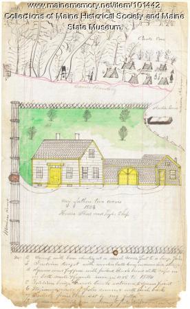 Martin homestead, Ellsworth, ca. 1846