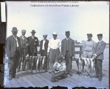 Fishing party, Biddeford, ca. 1910