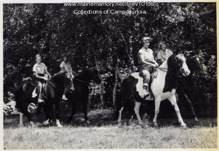 Riding group at Camp Runoia