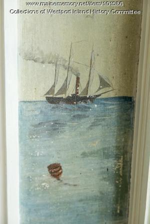Merchant schooner underway detail, Westport Island, ca. 1858
