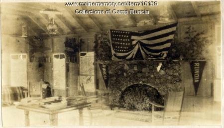 Interior of lodge at Camp Runoia