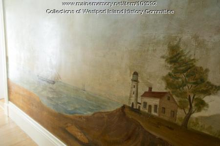 Approaching the lighthouse mural section, Westport Island, ca. 1858