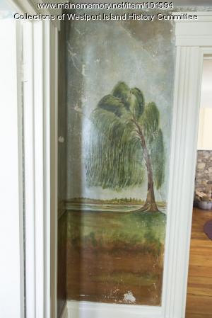 Willow tree mural, Westport Island, ca. 1858