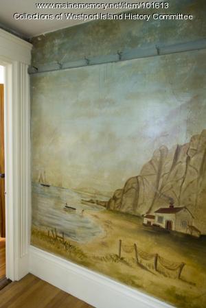 Fishermen's house mural, Westport Island, ca. 1858