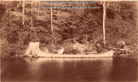 Canoeing on Williams Stream, 1887