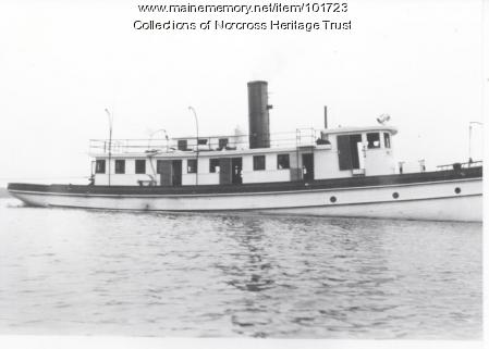 "Steamboat ""West Branch No. 3"", Lower Lakes, West Branch Penobscot River, ca. 1945"