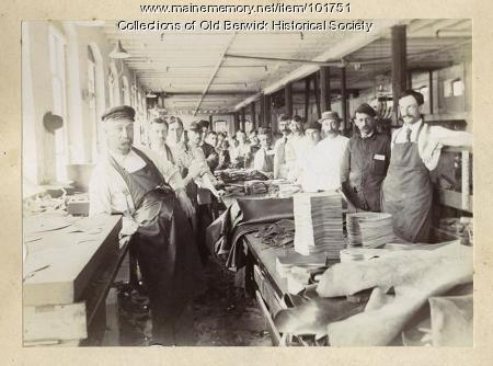 Workers at David Cummings & Co. shoe factory, South Berwick, ca. 1900