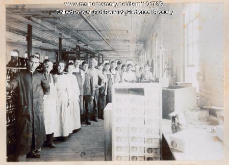 Workers in David Cummings & Company shoe factory, South Berwick, ca. 1900