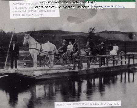 Frenchville-Ste. Hilaire ferry, ca. 1920