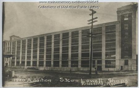 Saco-Lowell Shops addition, Biddeford, 1920