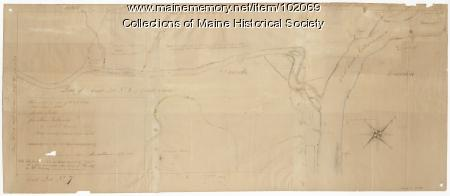 Early map of Lewiston, Auburn and Minot, 1820