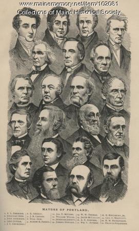 Mayors of Portland, ca. 1877