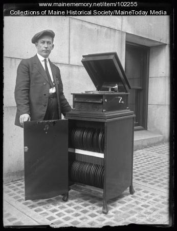 Prohibition liquor hiding techniques: Victrola before, Portland, ca. 1922