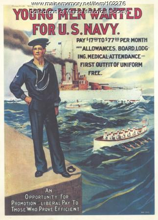Young men wanted for U.S. Navy World War I poster, ca. 1917