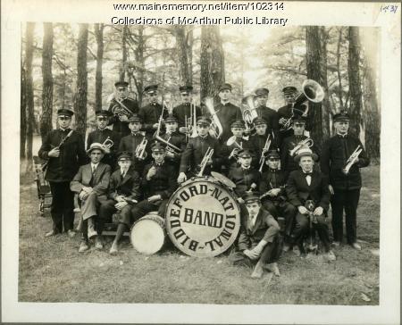 Biddeford National Band at Camp Ellis, 1919