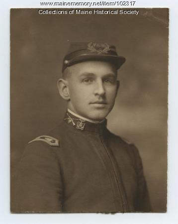William Cobb in uniform, Portland, ca. 1915