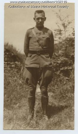 Herbert Cobb in cadet uniform, ca.1917