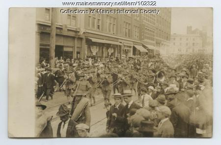 Laredo Army band parade, Texas, 1916