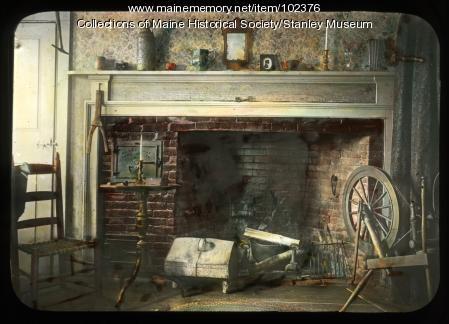 Fireplace scene, Kingfield, ca. 1910